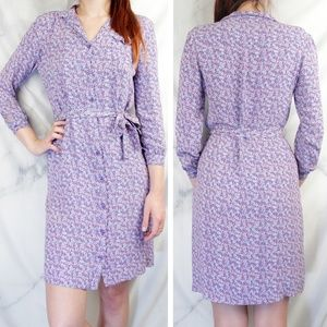 ✨VTG✨ 70s Dotted Belted Midi Shirtdress